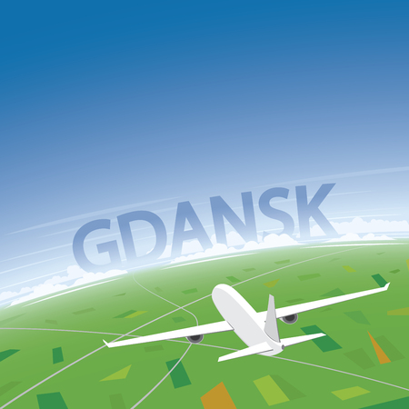 Gdansk Flight Destination Illustration