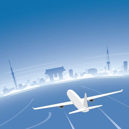 Tokyo Skyline Flight Destination