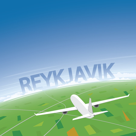 convention: Reykjavik Flight Destination Illustration