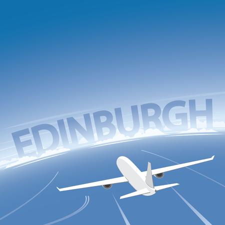 conventions: Edinburgh Flight Destination Illustration