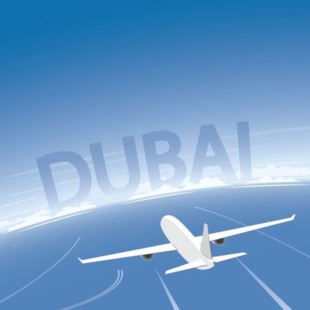 Dubai Flight Destination Illustration