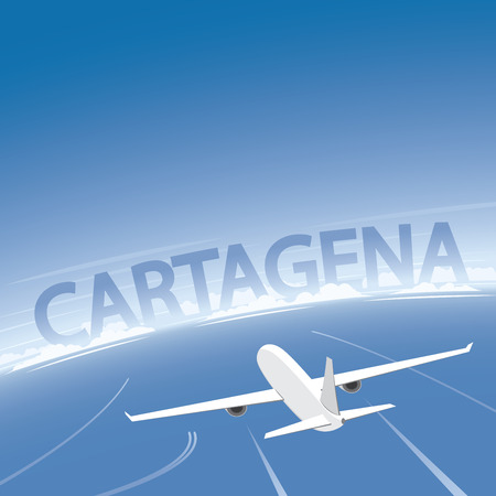 cartagena: Cartagena Flight Destination Illustration