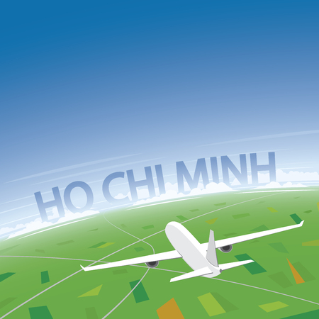 Ho Chi Minh Flight Destination Illustration