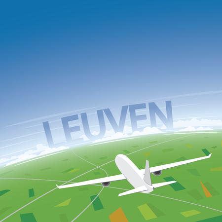 Leuven Vluchtbestemming Vector Illustratie