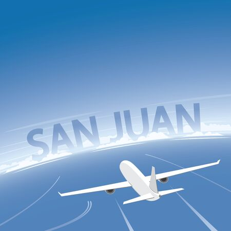 San Juan Flight Destination Illustration