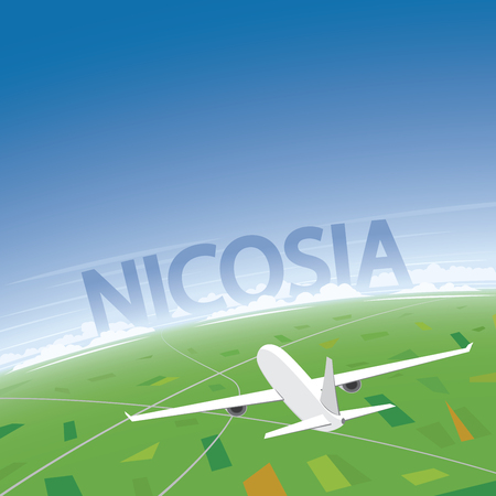 congress: Nicosia Flight Destination Illustration