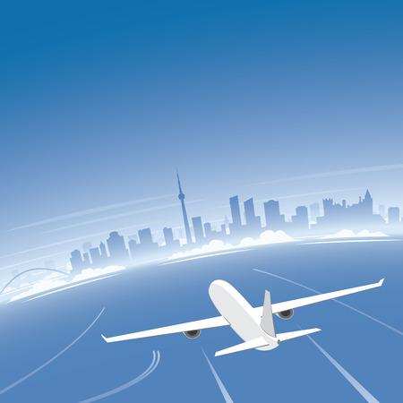 Toronto Skyline Flight Destination