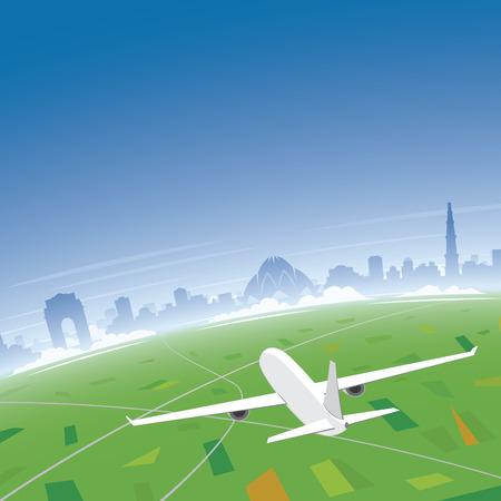 conventions: New Delhi Skyline Flight Destination