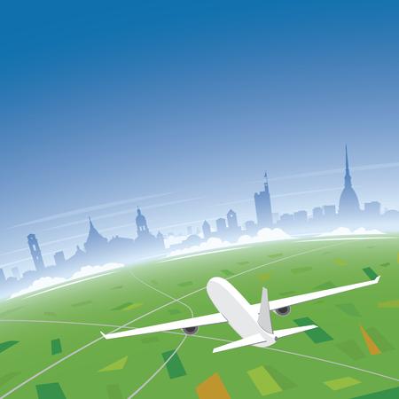 Turin Skyline Flight Destination