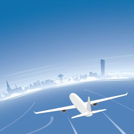 Malmo Skyline Flight Destination