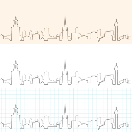 Stockholm Hand Drawn Skyline
