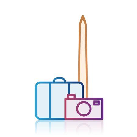 Icono de destino de turismo de Washington Foto de archivo - 84984715
