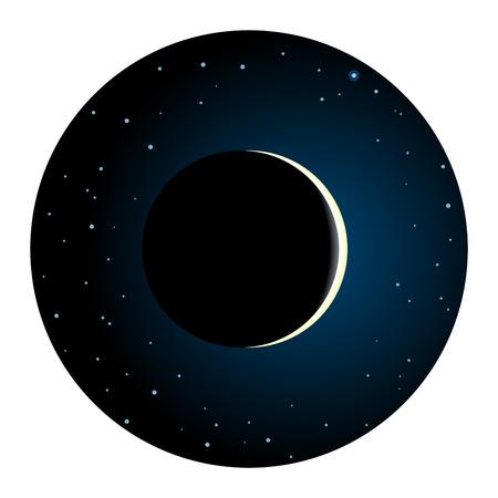 Solar Eclipse Round Icon