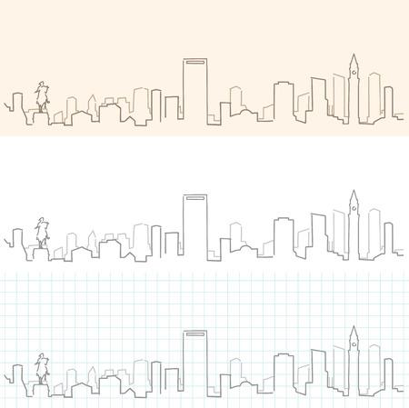 Boston Hand Drawn Skyline
