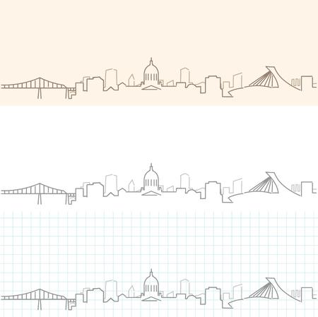 Montreal Hand Drawn Skyline