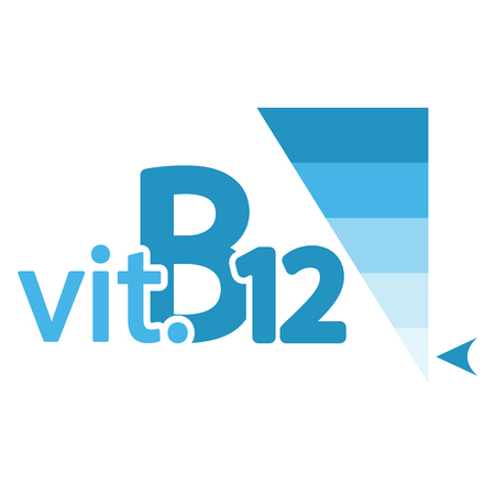 Vitamin B12 Content Indicator Sign Illustration