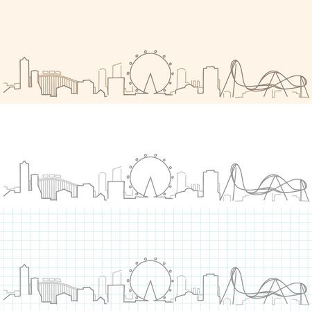 Orlando Hand Drawn Skyline