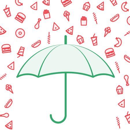 Unhealthy Food Avoidance illustration Illustration