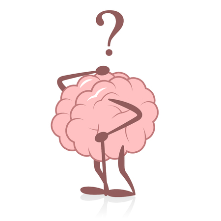 Stary mózg i utrata pamięci Ilustracje wektorowe