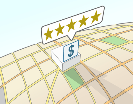Financial institution top user rating illustration.