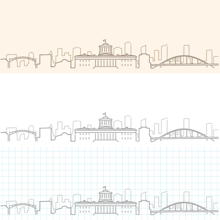 Columbus Hand Drawn Skyline.