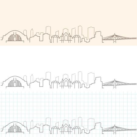 Cincinnati Hand Drawn Skyline