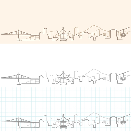 Portland Hand Drawn Skyline.
