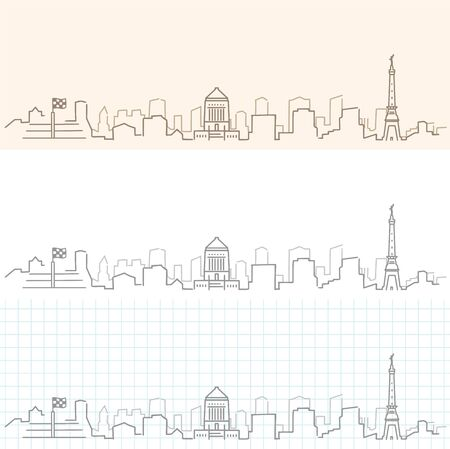Indianapolis Hand Drawn Skyline. Illustration