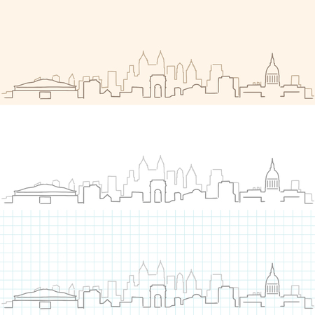 Atlanta Hand Drawn Skyline.
