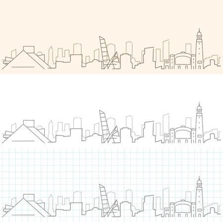 Cleveland Hand Drawn Skyline.