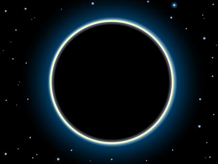 Total solar eclipse scene.