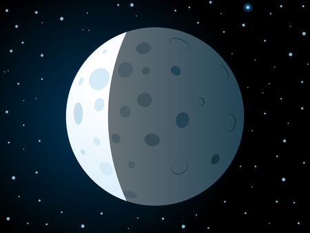 Lunar eclipse scene.