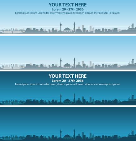 Amman Skyline Event Banner Vector illustration. Illustration