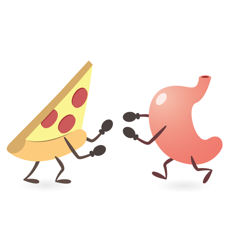 Stomach and Pizza Fighting