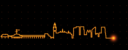 The Hague Light Streak Skyline Stock Illustratie