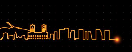 Oslo Light Streak Skyline
