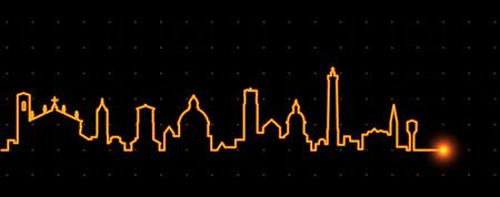 Bologna Light Streak Skyline