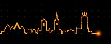 Gent Light Streak Skyline