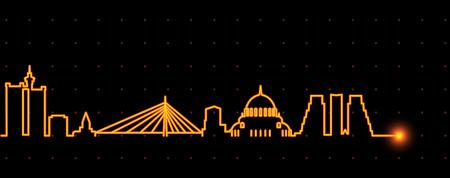 Belgrade Light Streak Skyline