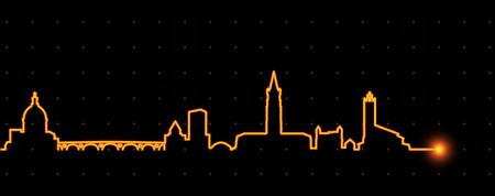 Toulouse Light Streak Skyline Ilustração