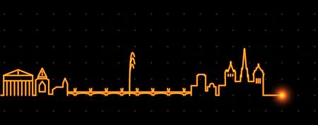 Geneva Light Streak Skyline