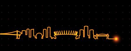 Vancouver Light Streak Skyline