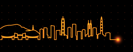 Shenzhen Light Streak Skyline