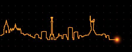 Kiev Light Streak Skyline