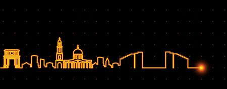 Chisinau Light Streak Skyline