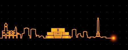 Minsk Light Streak Skyline