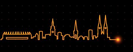 Zagreb Light Streak Skyline