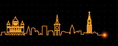 Bern Light Streak Skyline Banque d'images - 109948237