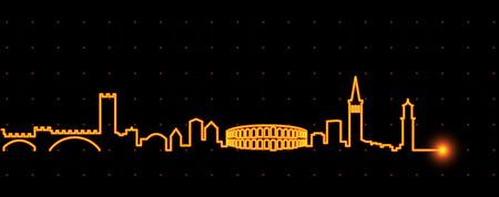 Verona Light Streak Skyline