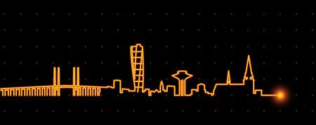 Malmo Light Streak Skyline